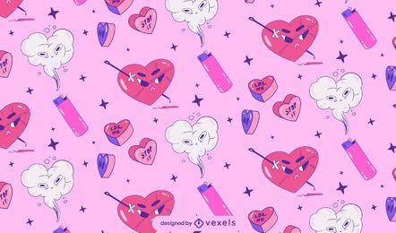 Diseño de patrón de corazón anti San Valentín