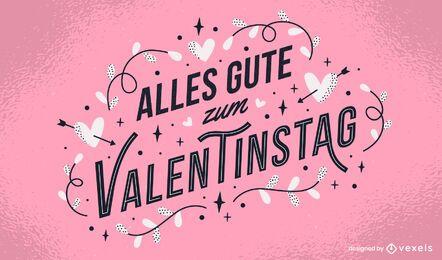 Valentinstag desenho de letras alemãs