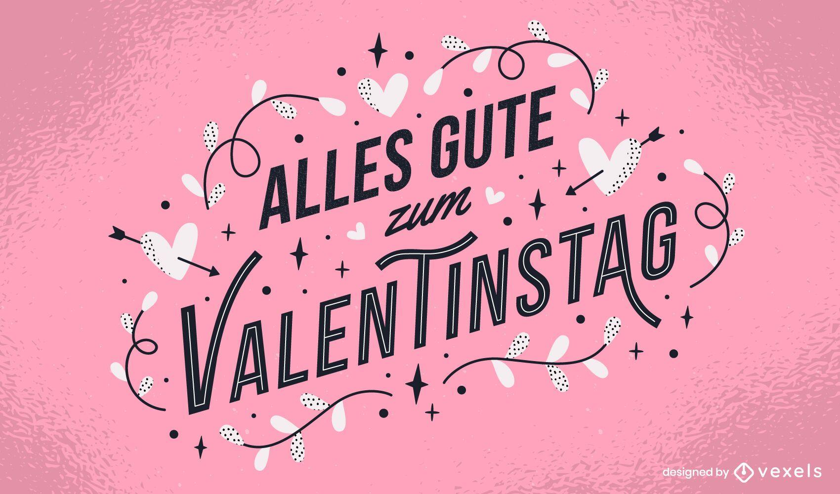 Valentinstag german lettering design