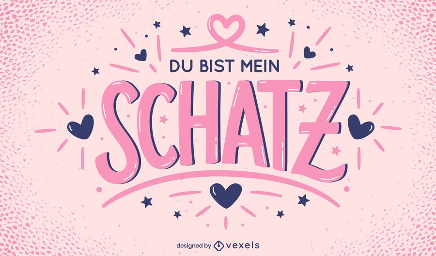 Valentine's day german lettering design