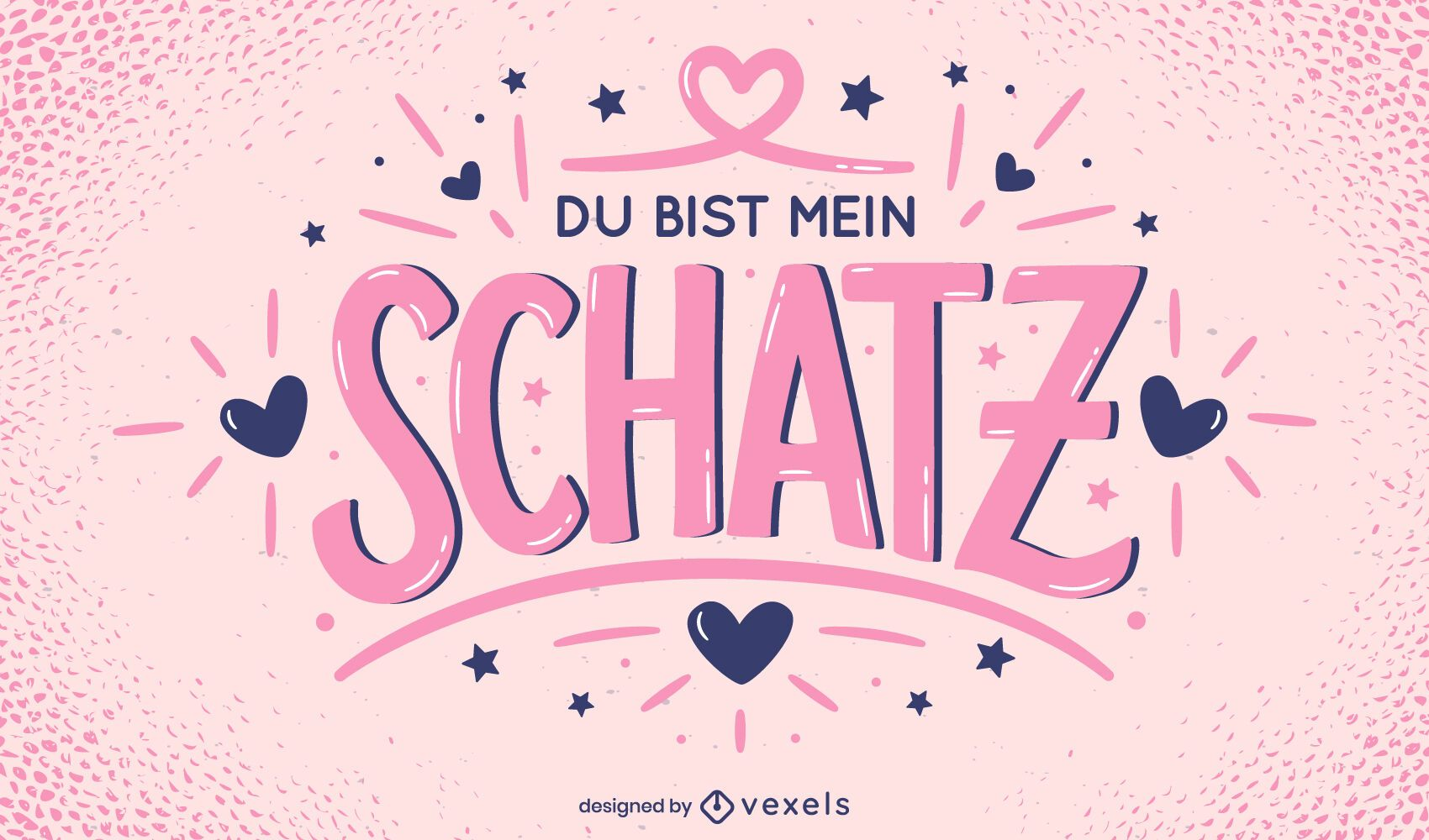 Valentine's day german lettering design