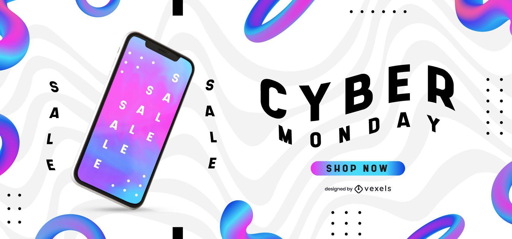 Cyber monday wavy slider design