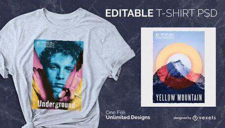 Alternative Farben skalierbares T-Shirt psd