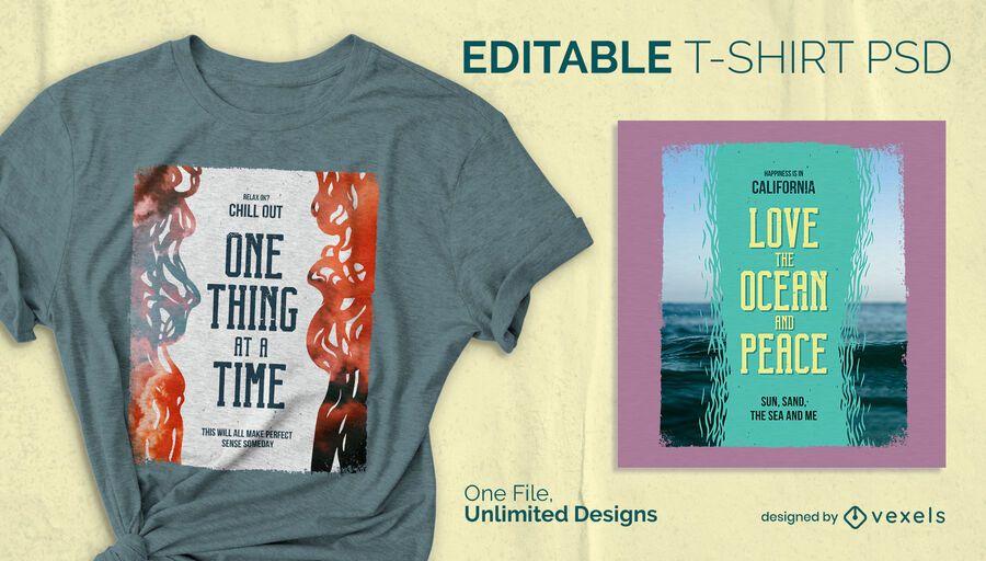 Póster de película camiseta diseño psd