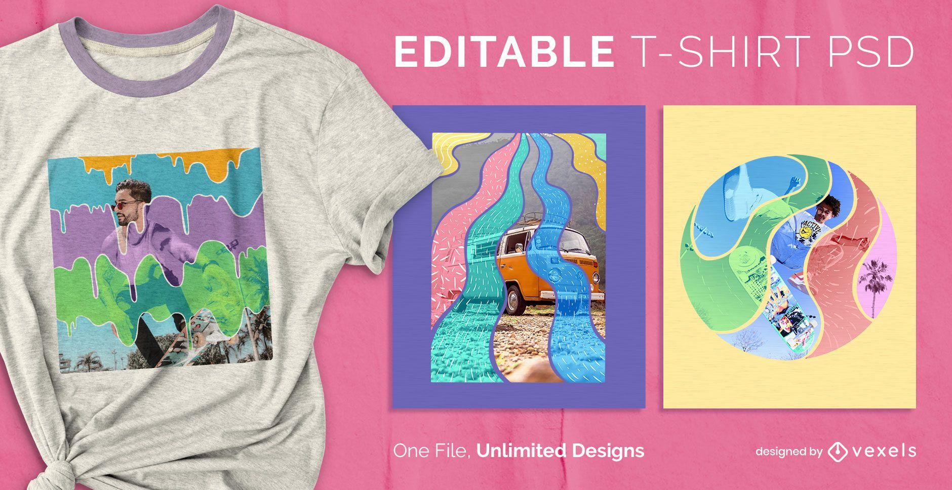 Trippy t-shirt design psd