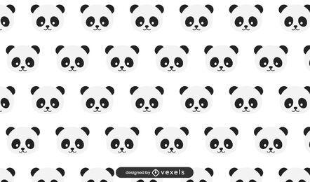Diseño de patrón de osos panda