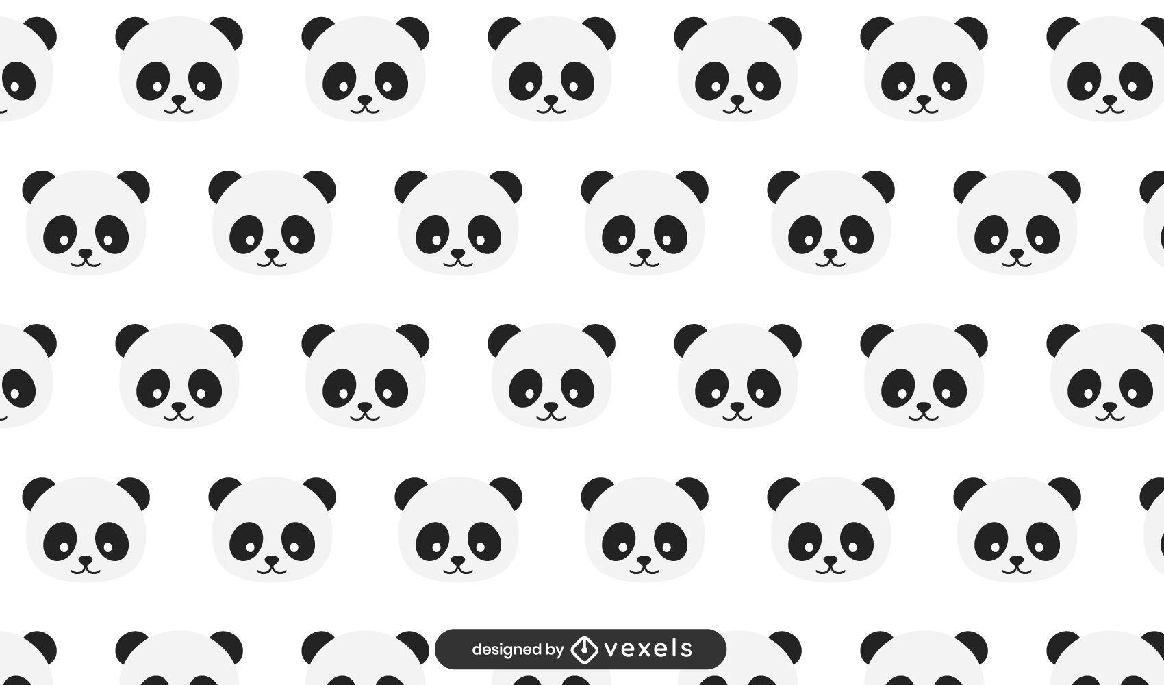 Dise?o de patr?n de osos panda