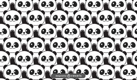 Cute panda bears pattern design