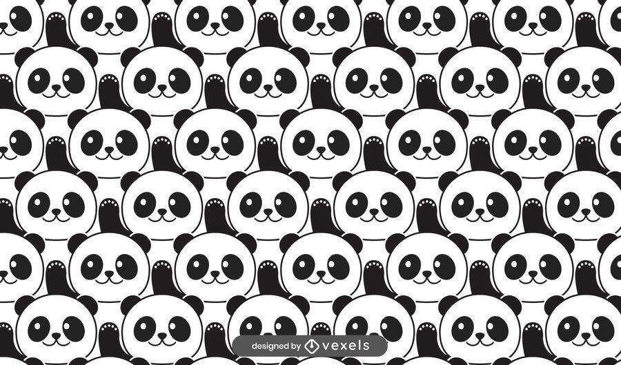 Cute panda bears pattern design