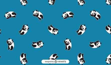 Cute pandas pattern design