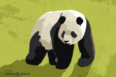 Desenho de ilustração do urso panda