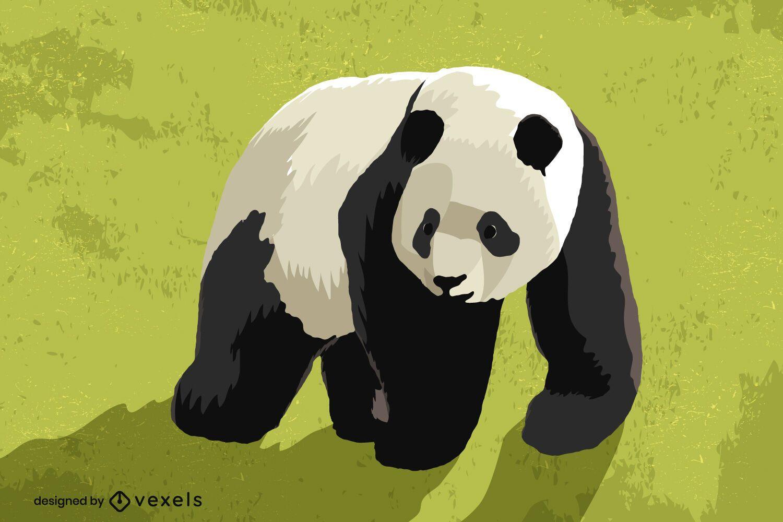 Panda bear illustration design