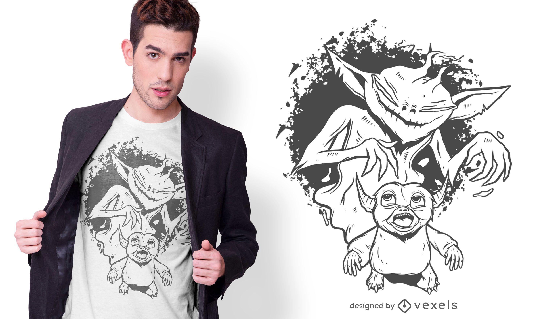 Monstrous shadow t-shirt design