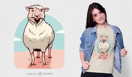 Diseño de camiseta de oveja orgullosa