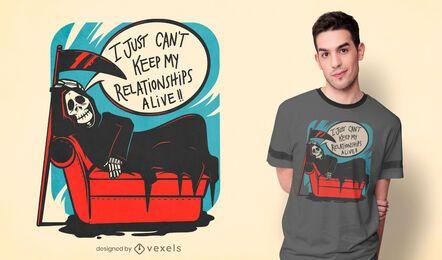 Design de camisetas do relacionamento do Grim reaper
