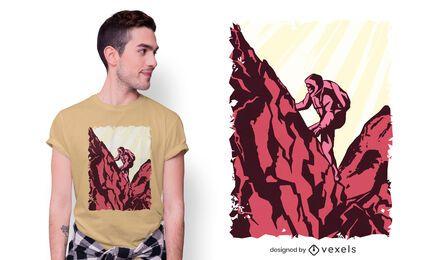 Hiker t-shirt design