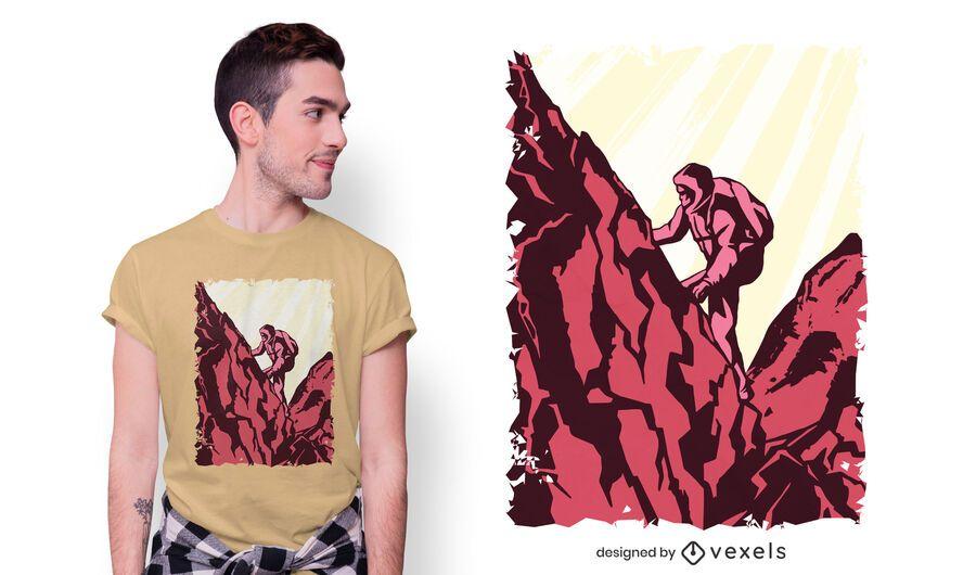 Diseño de camiseta de excursionista