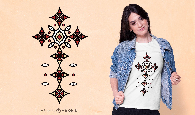 Diseño de camiseta de adorno africano