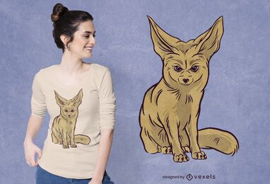 Design de t-shirt Fennec fox