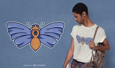 Design de camiseta da mariposa da morte