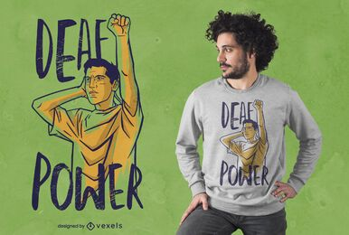 Diseño de camiseta Deaf Power