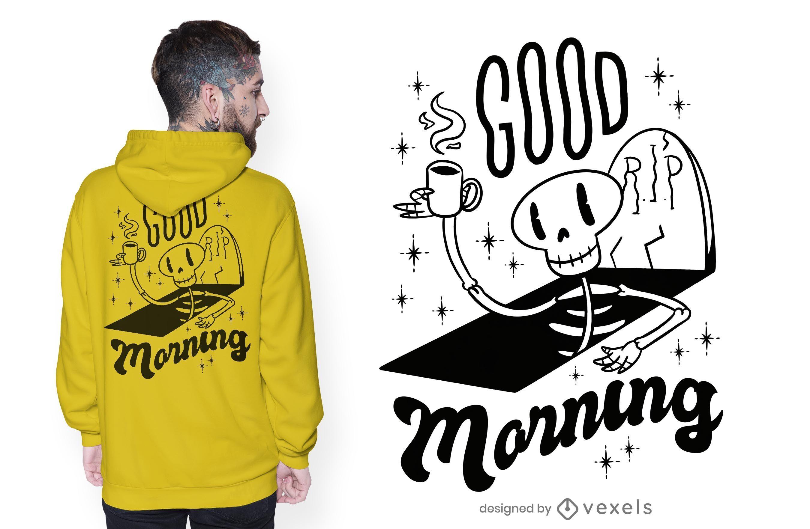 Diseño de camiseta de buenos días
