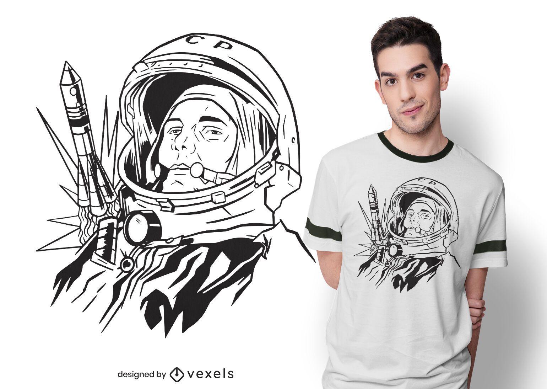 Design de camisetas Yuri gagarin