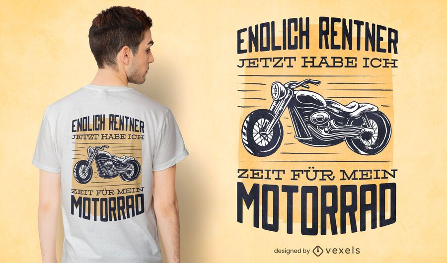 Motorcycle german quote t-shirt design