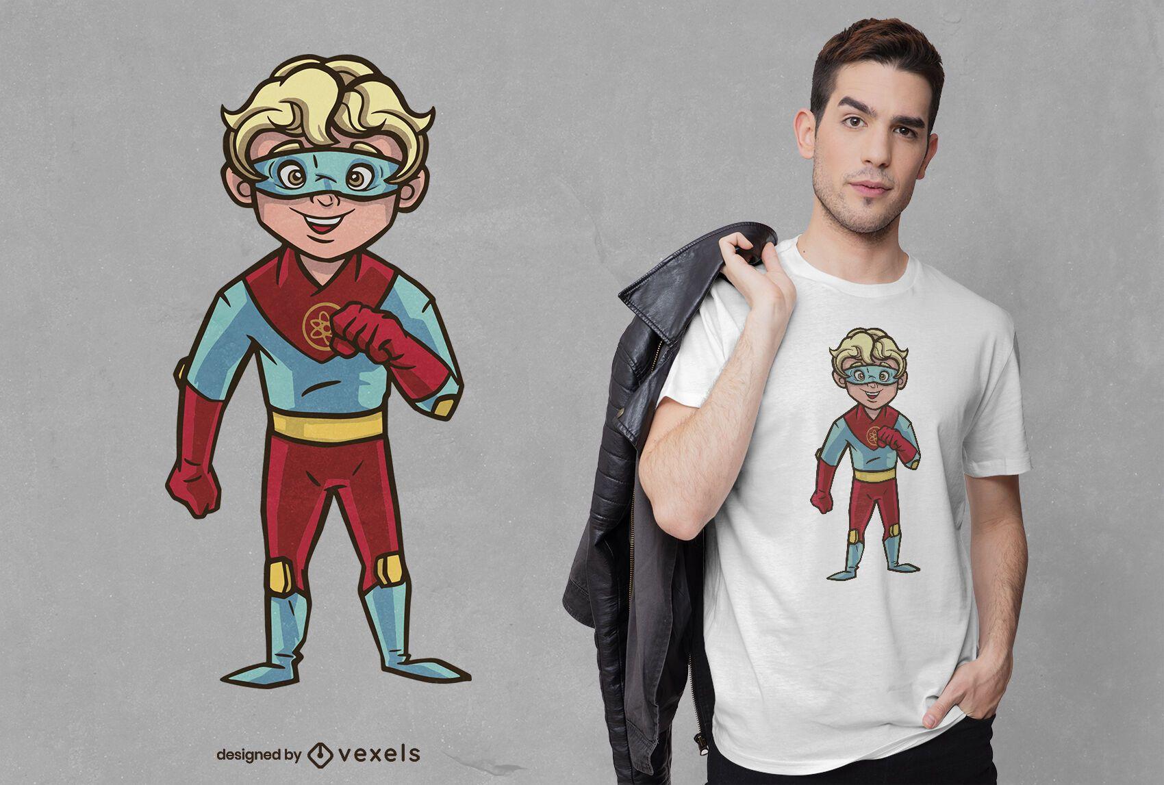 Superhero boy t-shirt design