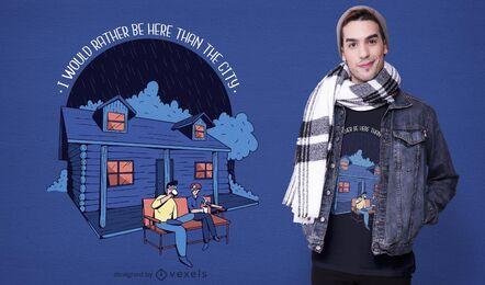Diseño de camiseta de cita de cabina