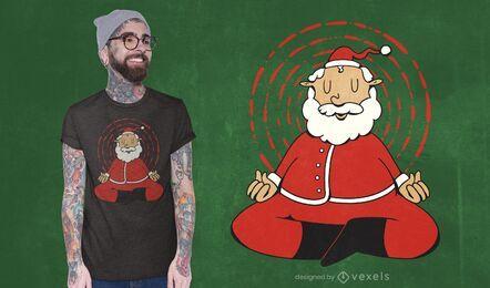 Meditating santa claus t-shirt design