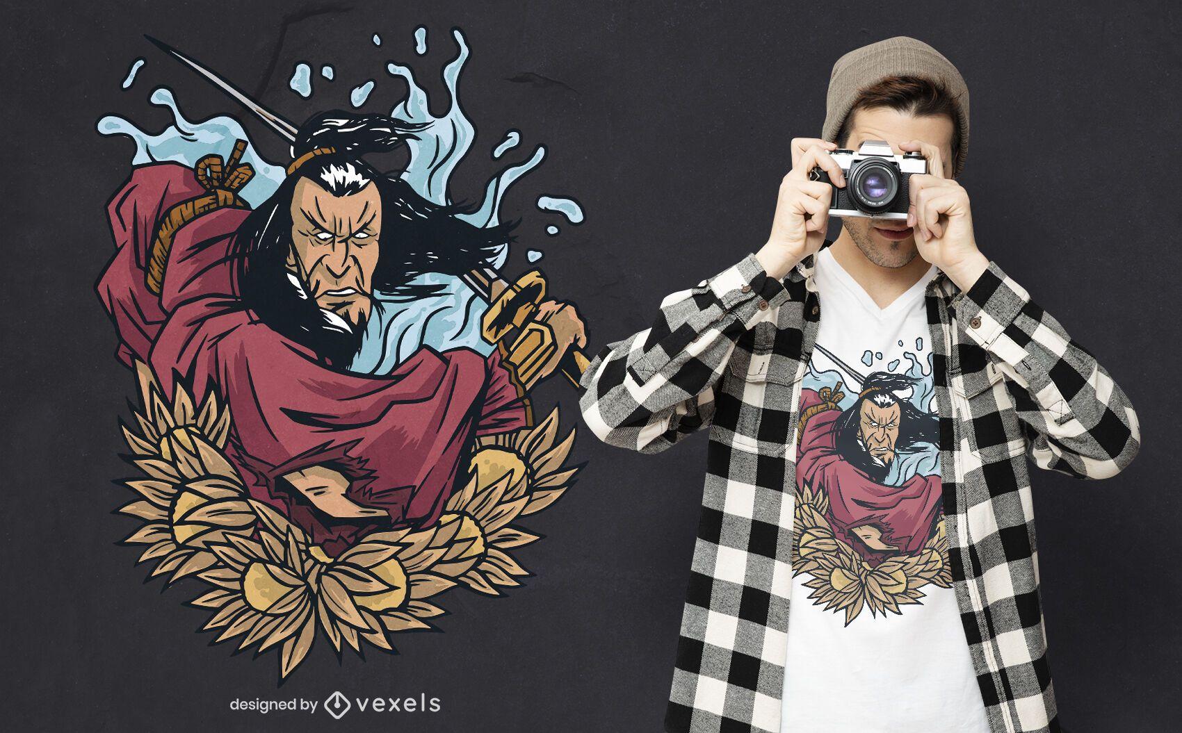 Samurai warrior t-shirt design