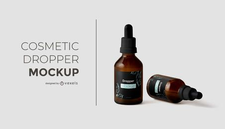 Cosmetic dropper mockup design