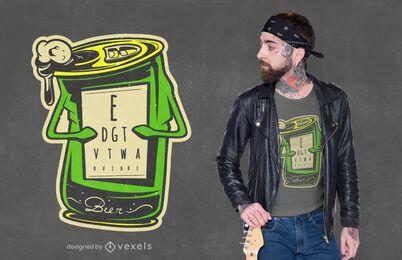 Design de camiseta de cerveja