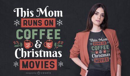 Este design de t-shirt de citação de mãe
