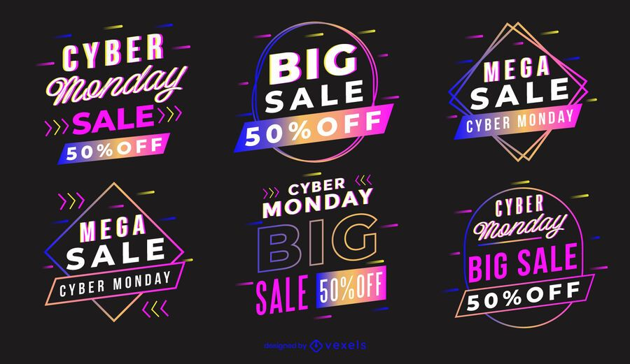 Cyber monday badge set