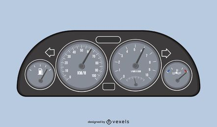 Car speedometer illustration design