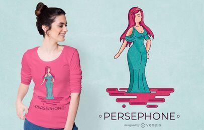 Diseño de camiseta de la diosa griega Perséfone.