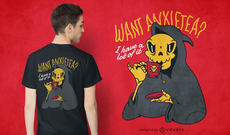 Quer um design de camiseta ansietea