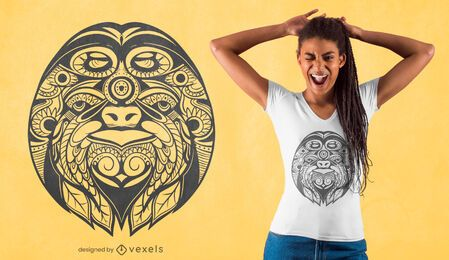 Ornamental sloth t-shirt design