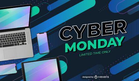 Modelo de controle deslizante da promoção Cyber Monday