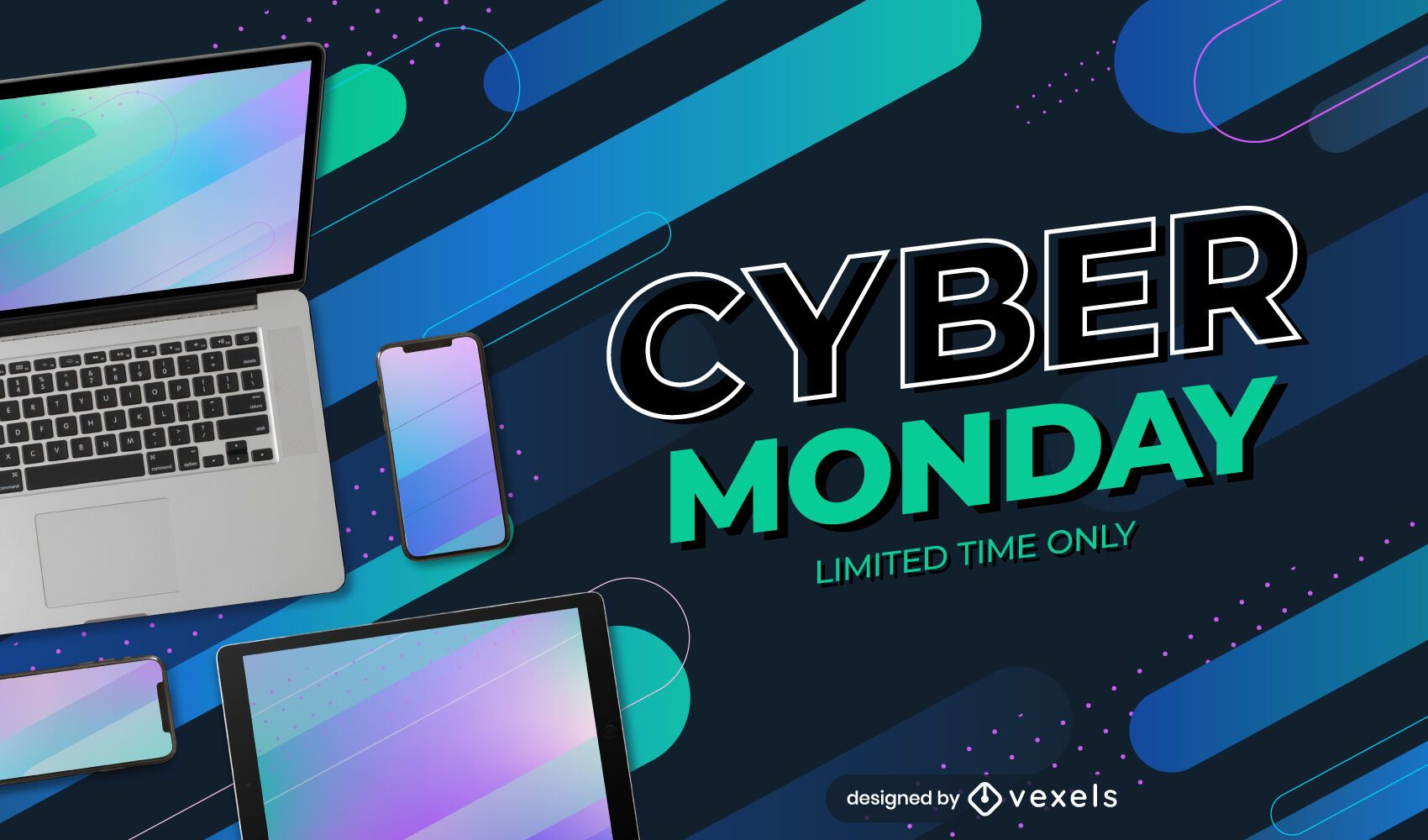 Cyber monday promo slider template