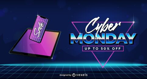 Cyber monday sale slider template