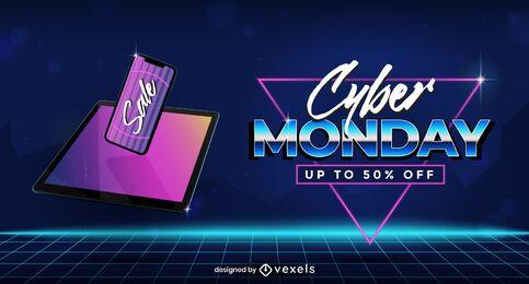 Modelo de controle deslizante de venda Cyber segunda-feira