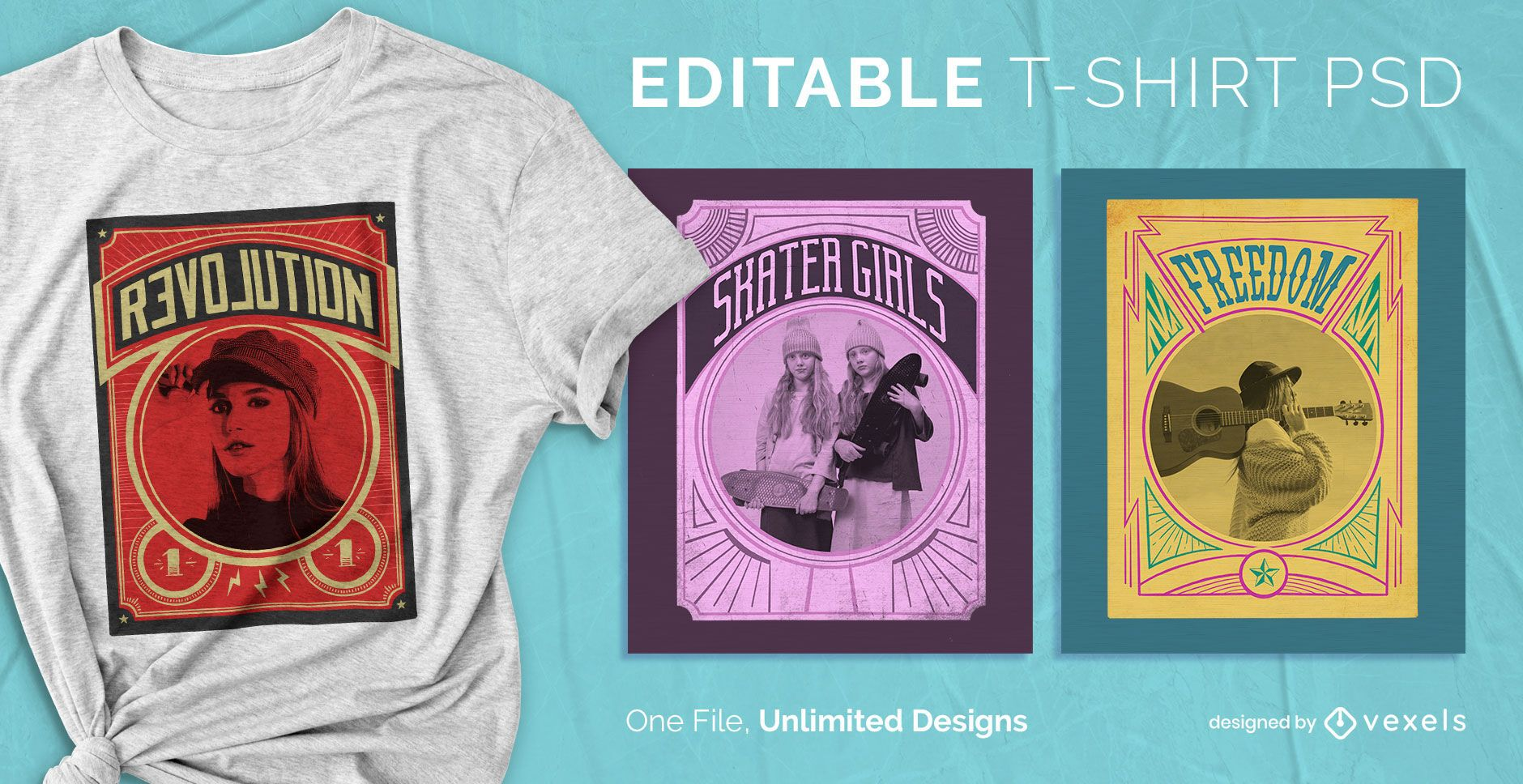 Vintage poster scalable t-shirt psd