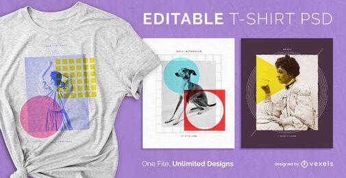 Shapes escalável t-shirt psd