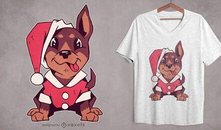 Cute christmas puppy t-shirt design