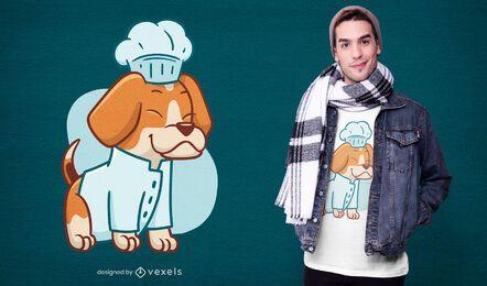 Diseño de camiseta chef beagle