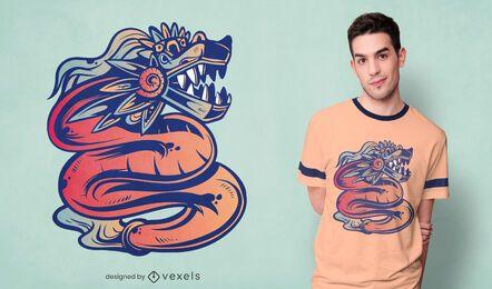 Design de camisetas Quetzalcoatl