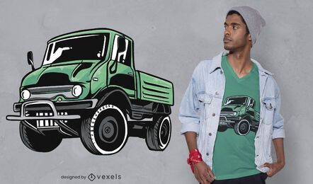 Diseño de camiseta verde unimog